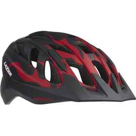 Lazer J1 Helmet Juniors red flames